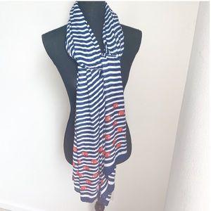 Stella & Dot Palm Springs nautical striped scarf.